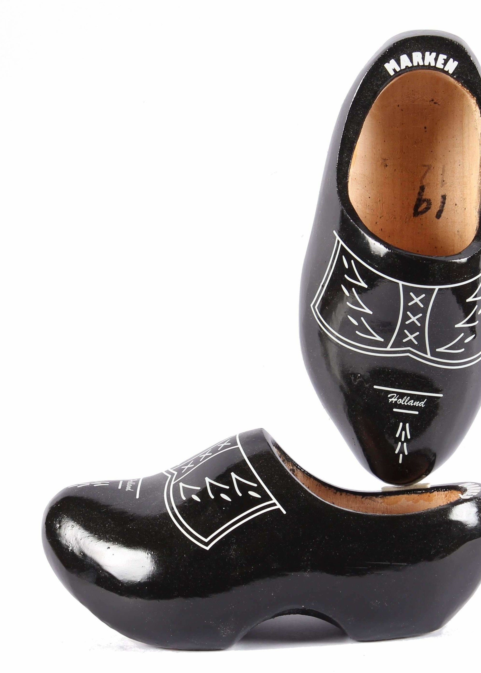 Wooden Shoe Factory Marken Wooden Shoes Traditional Black