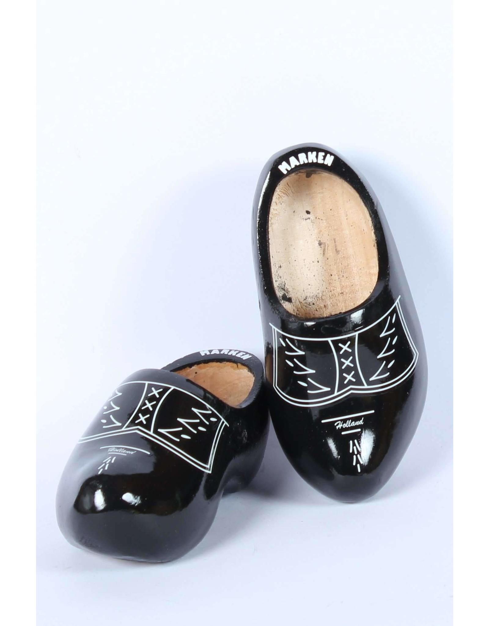 Wooden Shoe Factory Marken Klompen,  Zwart Traditioneel Boeren