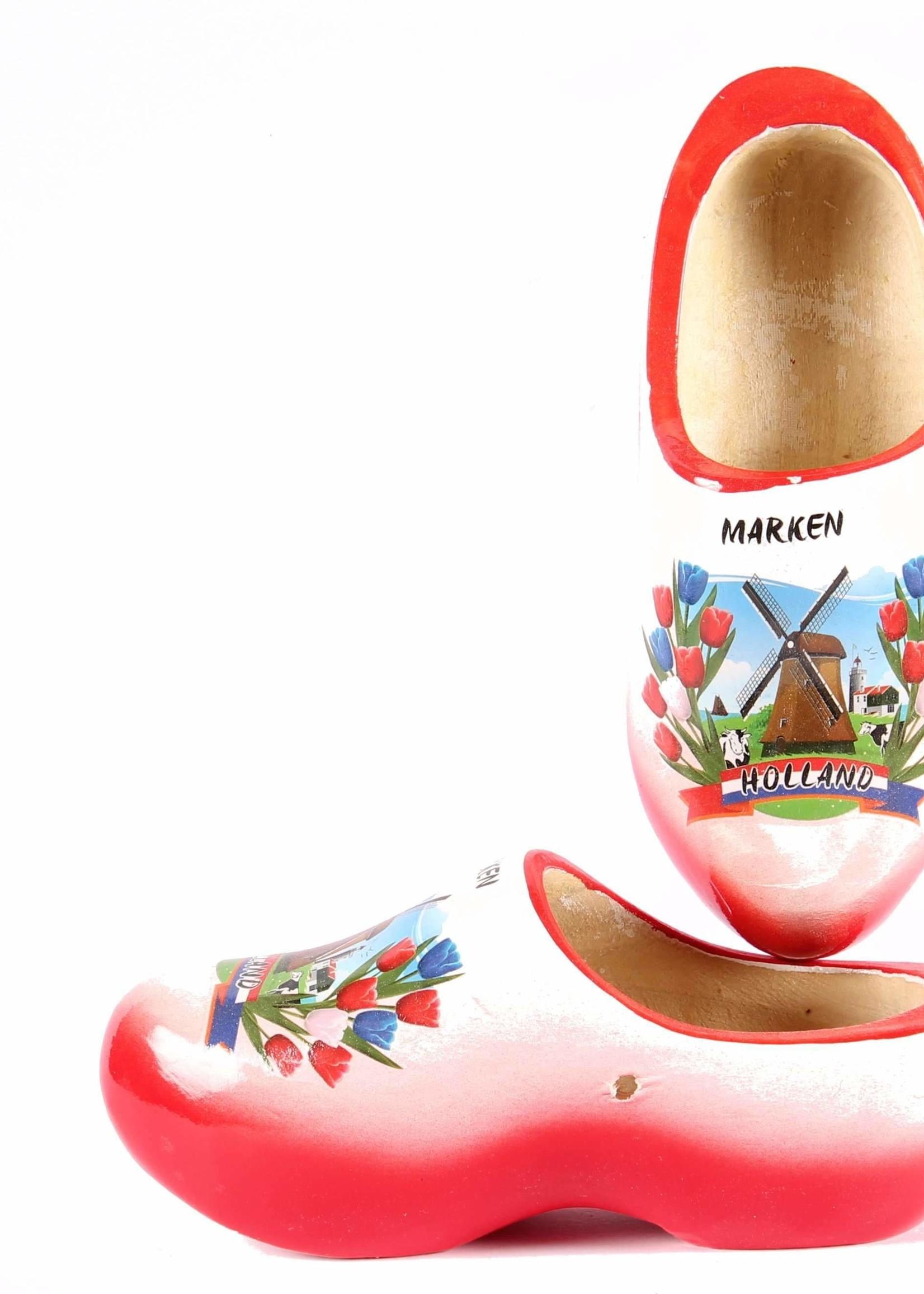 Wooden Shoe Factory Marken Klompen Marken Rood Wit