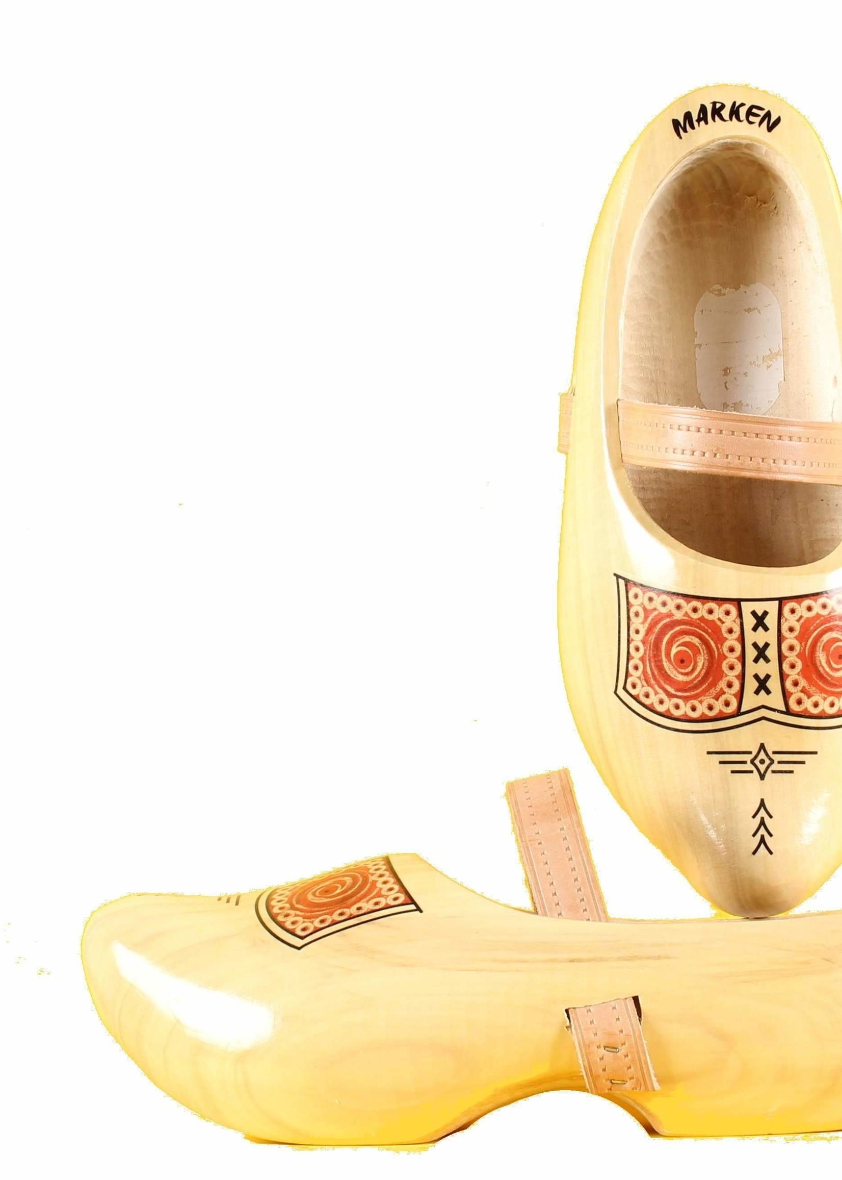 Wooden Shoe Factory Marken Tripklompen, Traditioneel Boeren Design, Klomp met Leren Band