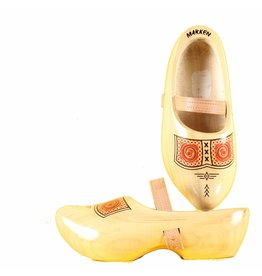 Wooden Shoe Factory Marken Wooden Shoes Tripklomp Farmer, Leather Strap Clog