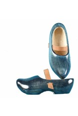 Wooden Shoe Factory Marken Tripklompen Denim, Klomp met Leren Band