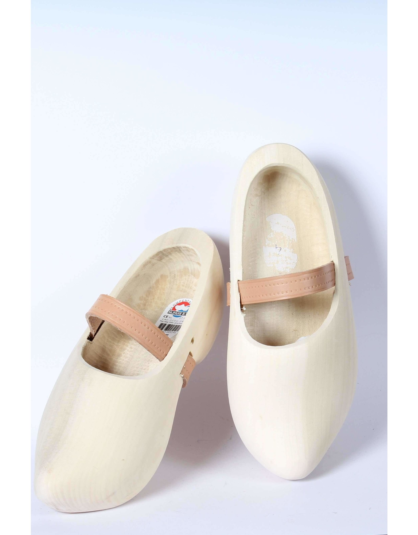 Wooden Shoe Factory Marken Wooden Shoes Tripklomp Plain, Leather Strap Clog