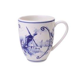 Heinen Delfts Blauw Delft Blue Coffee Mug Large,  Windmill 2
