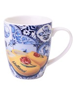 Heinen Delfts Blauw Delft Blue Mug with Tiles and Wooden Shoes