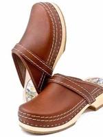Simson Leather Clogs, Simson, Brown,