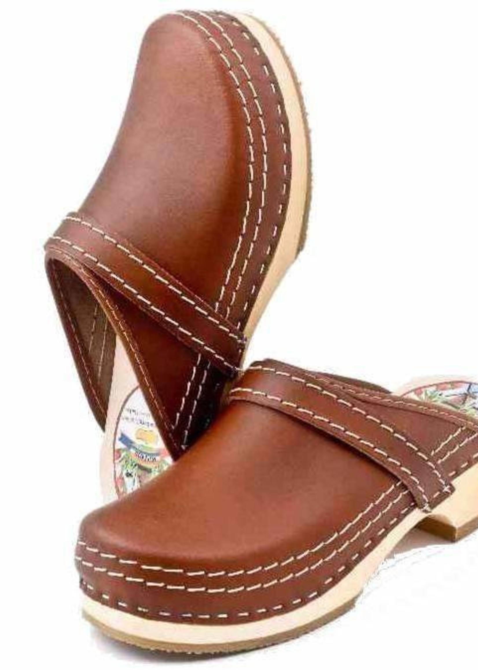 Simson Leather Clogs, Simson, Brown, Orthepedic Footwear