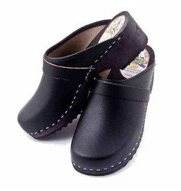 Simson Leather Clogs, Simson, Black