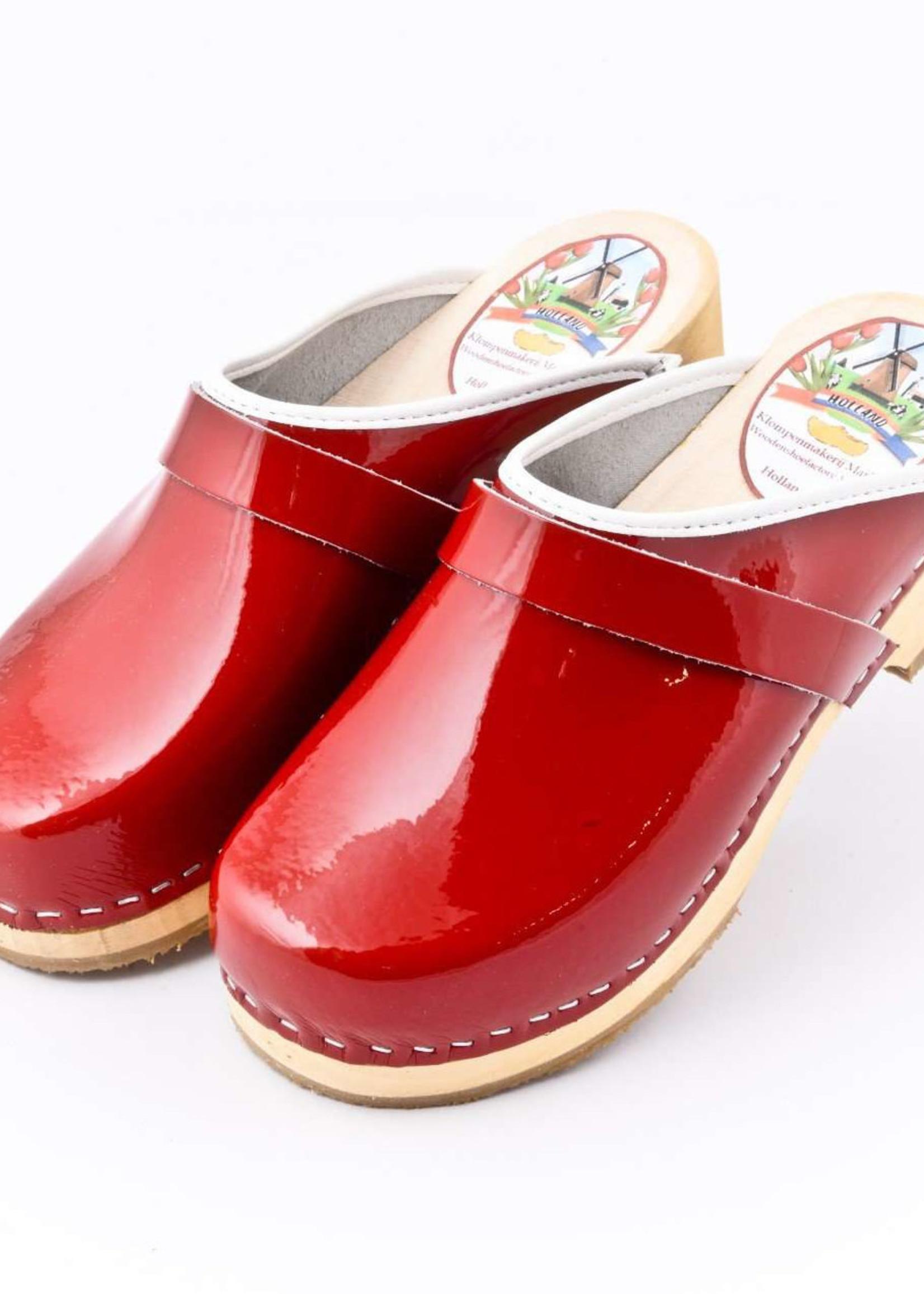 Simson Leather Clogs,  Shiny Black, Orthepedic Footwear