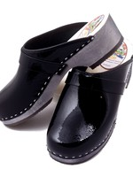 Simson Leather Clogs,  Simson,  Shiny Black