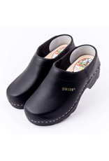Simson Leather Clogs, Simson, Black Closed Heel, Orthepedic Footwear