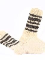 Handgebreide Wollen Sokken, Wit