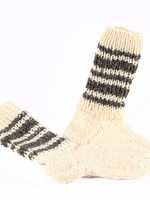 Handknitted Wool Socks, White