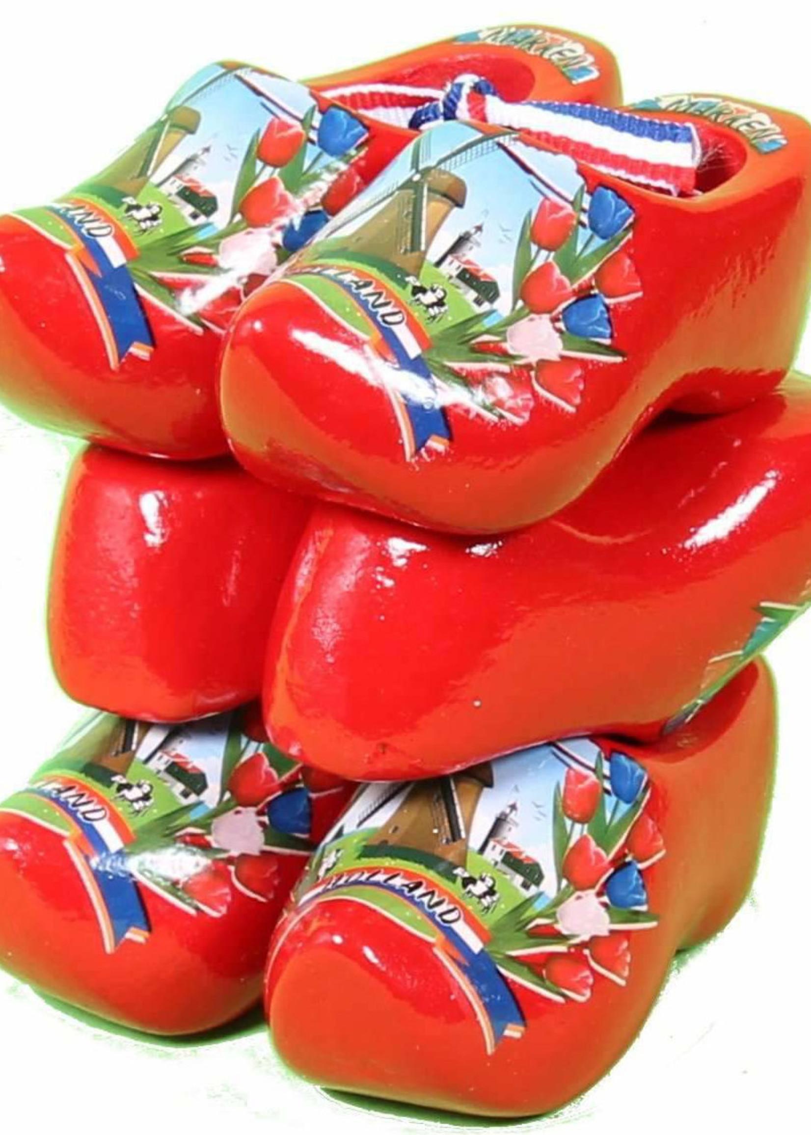 3 Souvenir Clogs, Red, 8 Cm / 3.15 Inch.