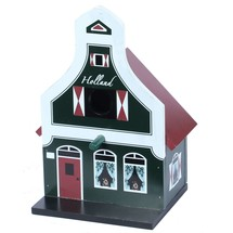 Birdhouse, Traditional Dutch House, Green