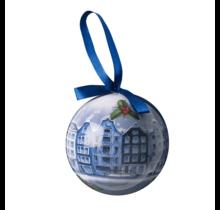 Kerstbal, Delfts Blauw, Amsterdamse Grachten Panden