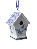 Christmas Ornament, Delft Blue, Birdhouse