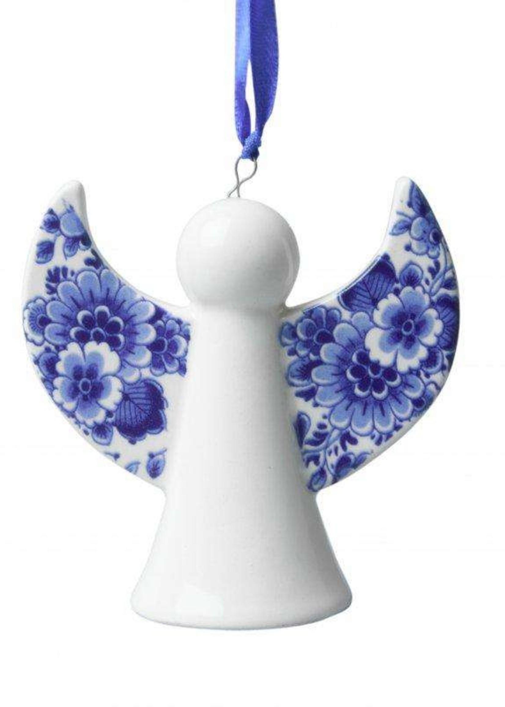 Christmas Ornament, Delft Blue, Christmas Angel