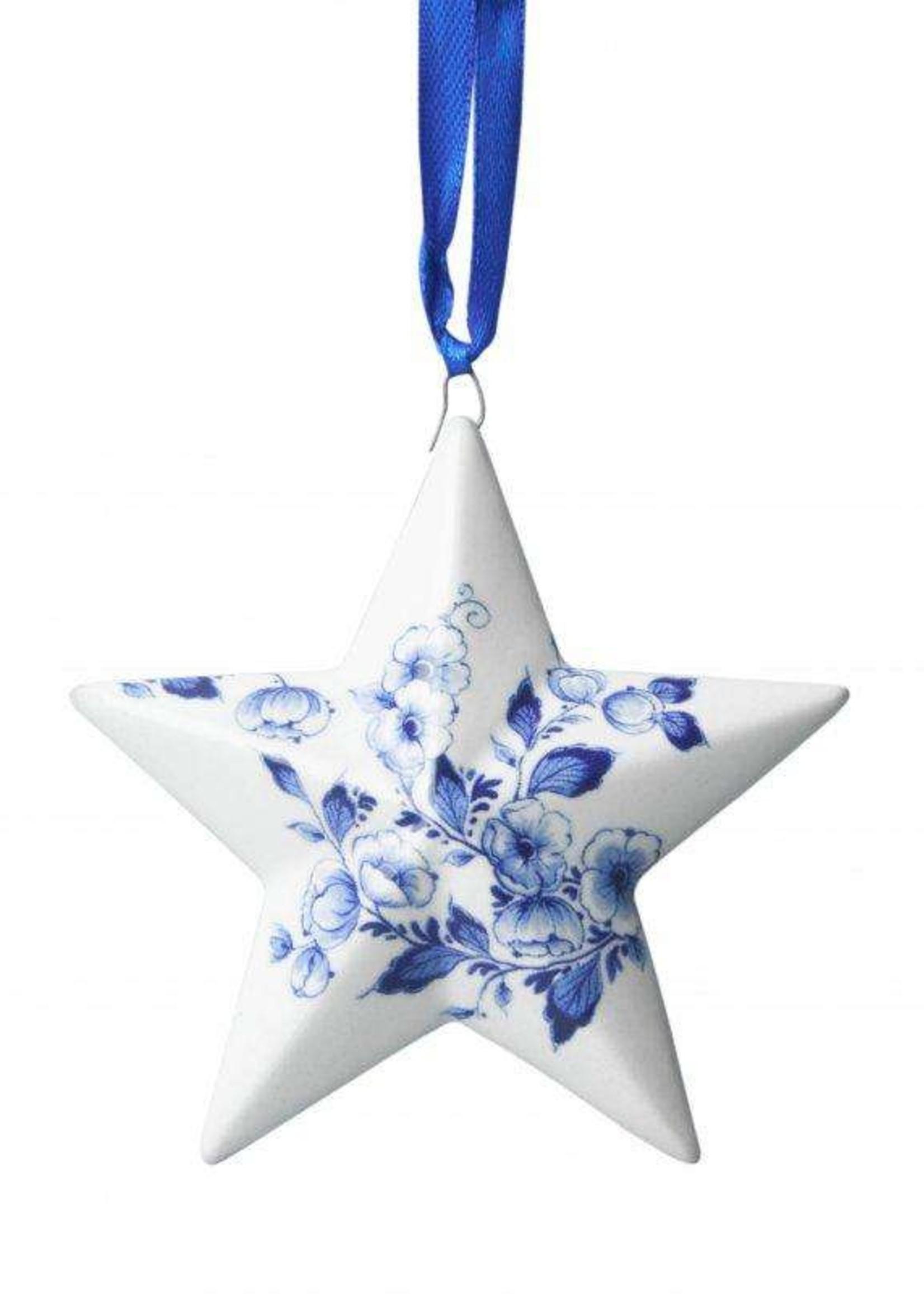 Christmas Ornament, Delft Blue, Christmas Star