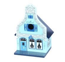 Birdhouse, Traditional Dutch House, Green - Delft Blue