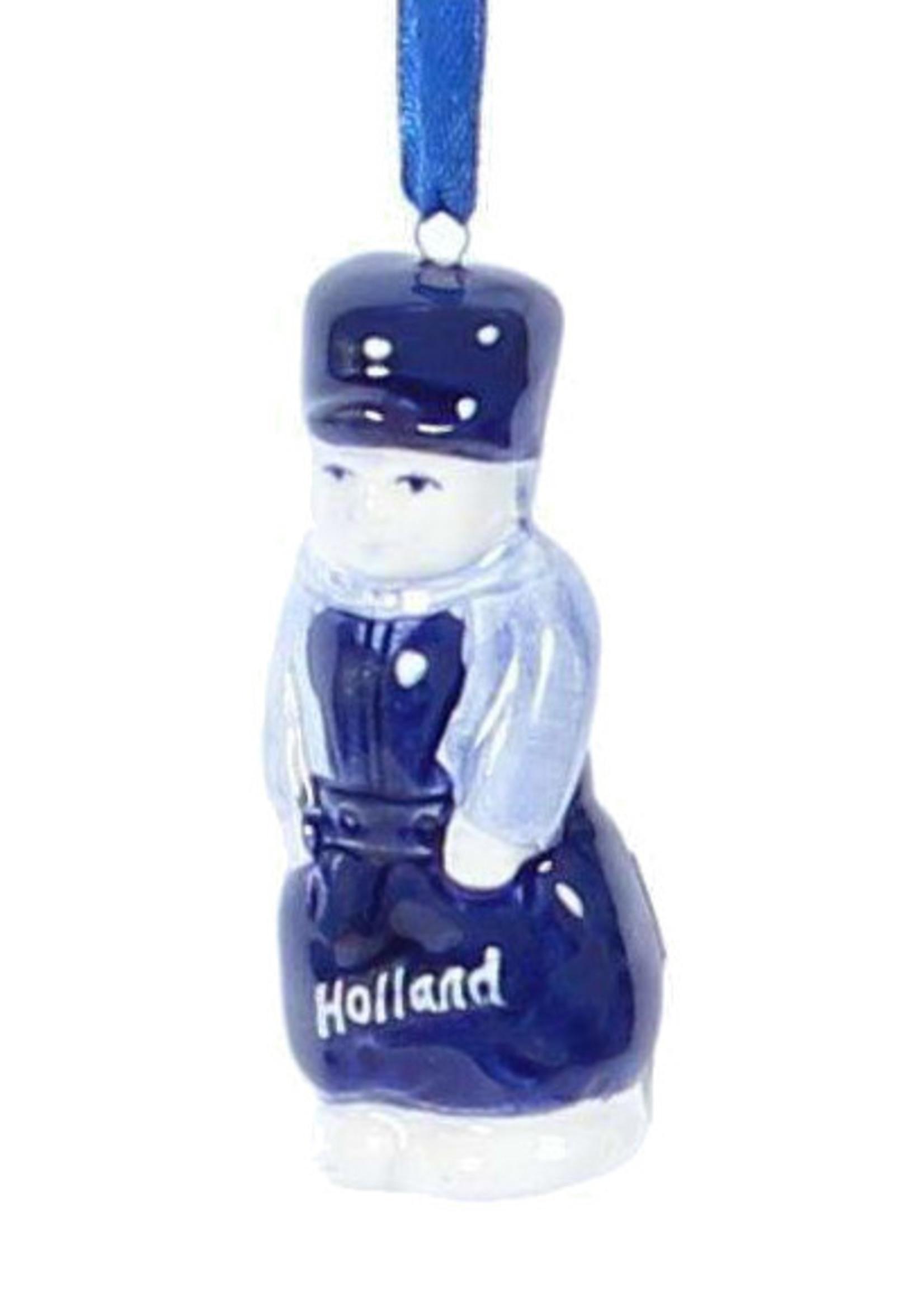 Christmas Ornament, Delft Blue, Dutch Guy