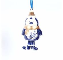 Kerstbal, Delfts blauw, Pinguïn met Poten als een Bel