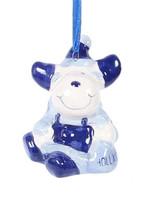 Christmas Ornament, Delft Blue, Reindeer