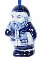 Christmas Ornament, Delft Blue, Santa Claus