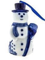 Christmas Ornament, Delft Blue, Snowman