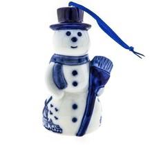 Kerstbal, Delfts Blauw, Sneeuwpop