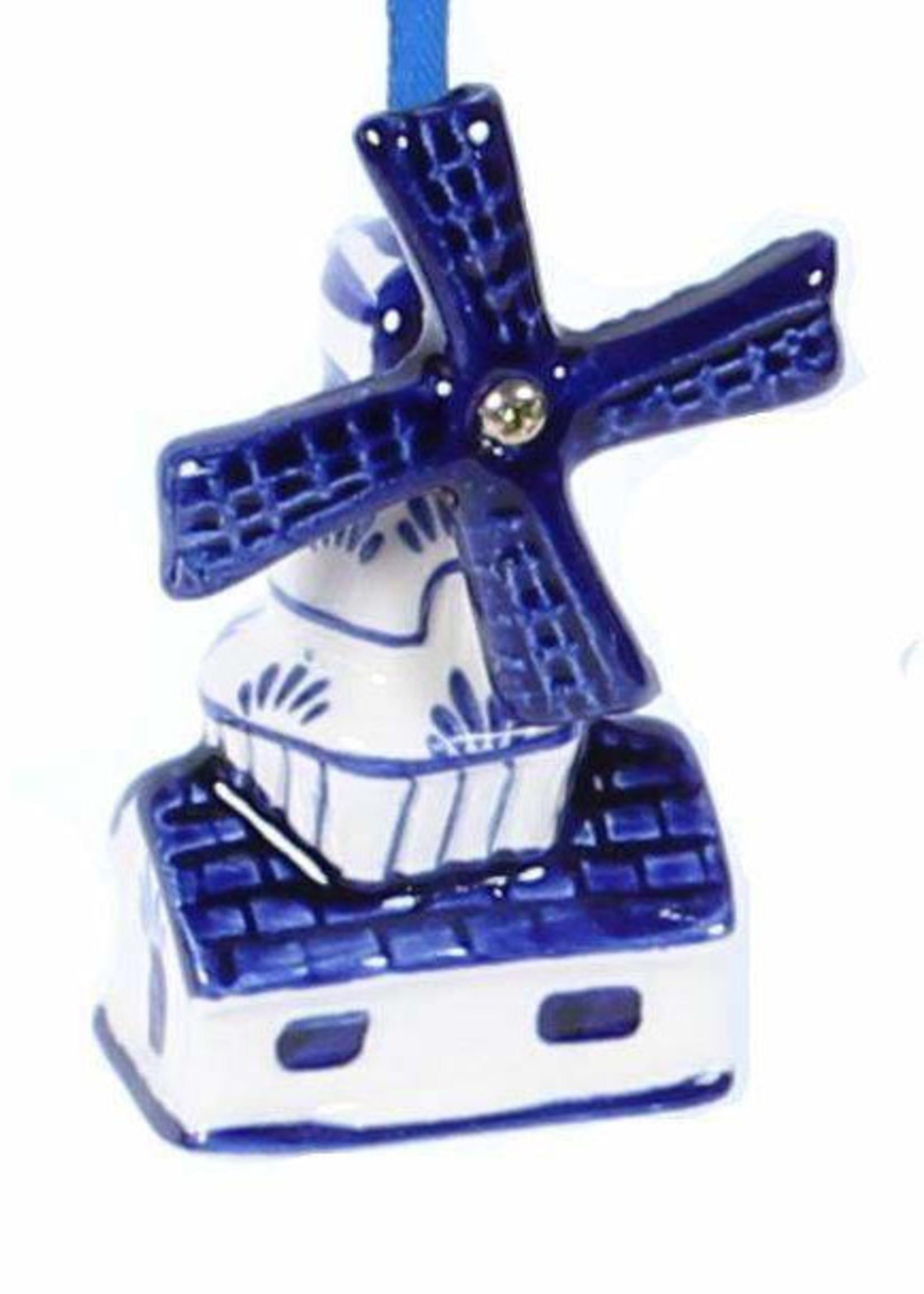 Christmas Ornament, Delft Blue, Windmill 1
