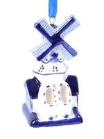 Kerstbal, Delfts Blue, Windmolen 2