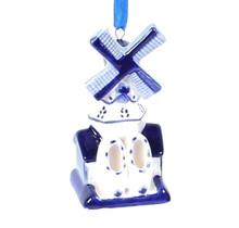 Christmas Ornament, Delft Blue, Windmill 2
