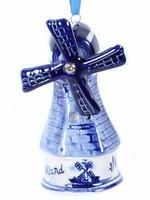Christmas Ornament, Delft Blue, Windmill 3