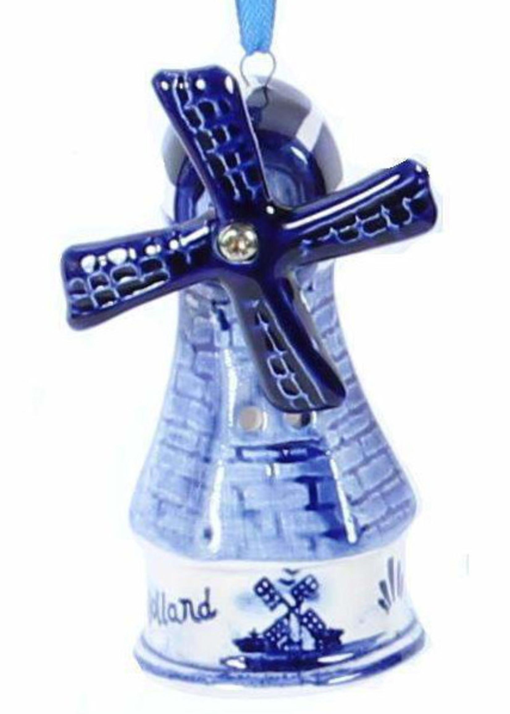 Kerstbal, Delfts Blue, Windmolen 3