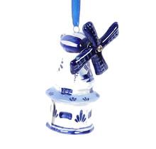 Christmas Ornament, Delft Blue, Windmill 4