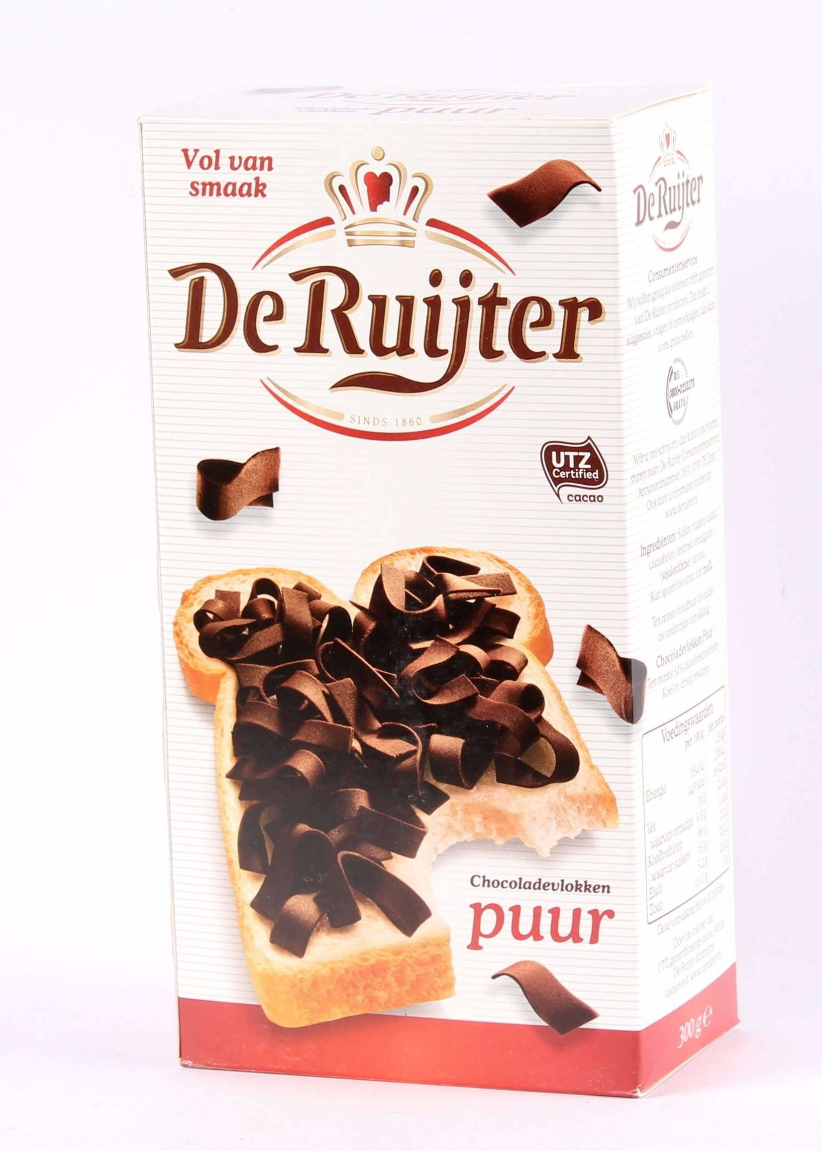 De Ruijter, Vlokken Puur, Pure Chocolade Vlokken