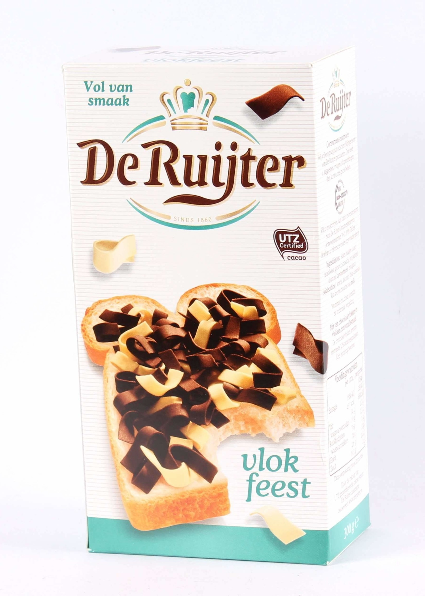 De Ruijter, Vlokkenfeest, Mixed Chocolate Flakes, Milk and White Chocolate