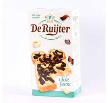 De Ruijter, Vlokkenfeest, Gemixte Chocolade Vlokken, Melk en Witte Chocolade Vlokken