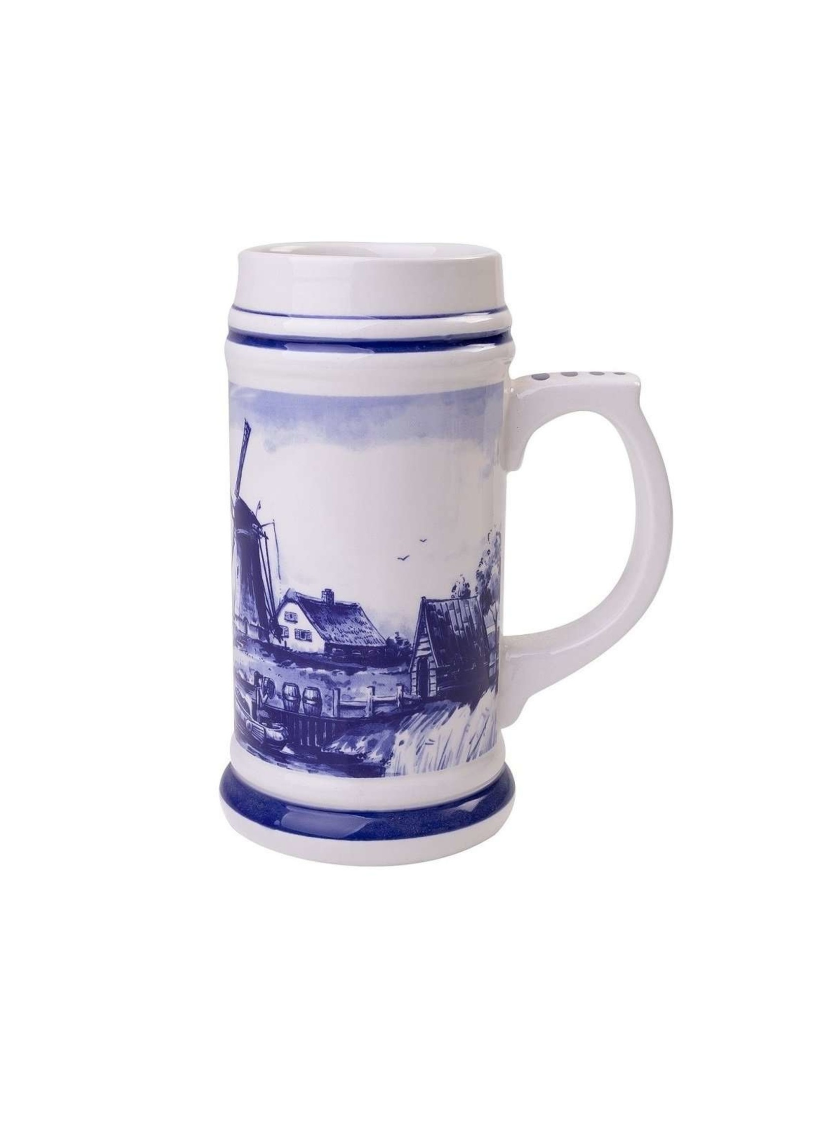 Delft Blue Beer Mug with a Typical Dutch Landscape, 550 ml / 18,6 oz
