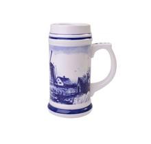 Delfts Blauwe Bierpul met een Typisch Hollands Landschap, Klein