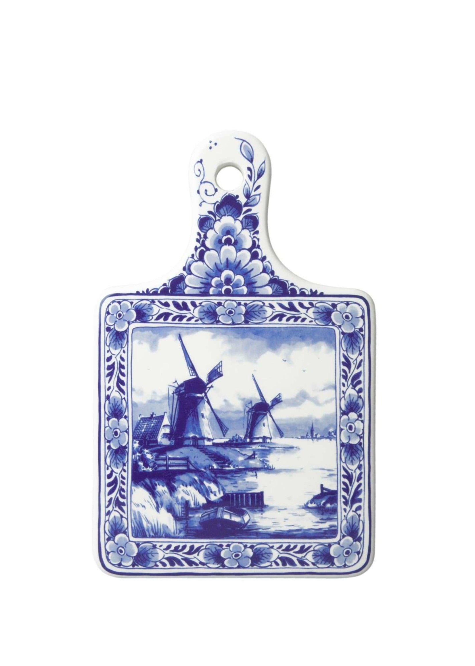 Delft Blue Cheese Board with Windmills, Small