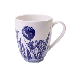 Delft Blue Coffee Mug with Tulip Design, 400 ml / 13,5 oz