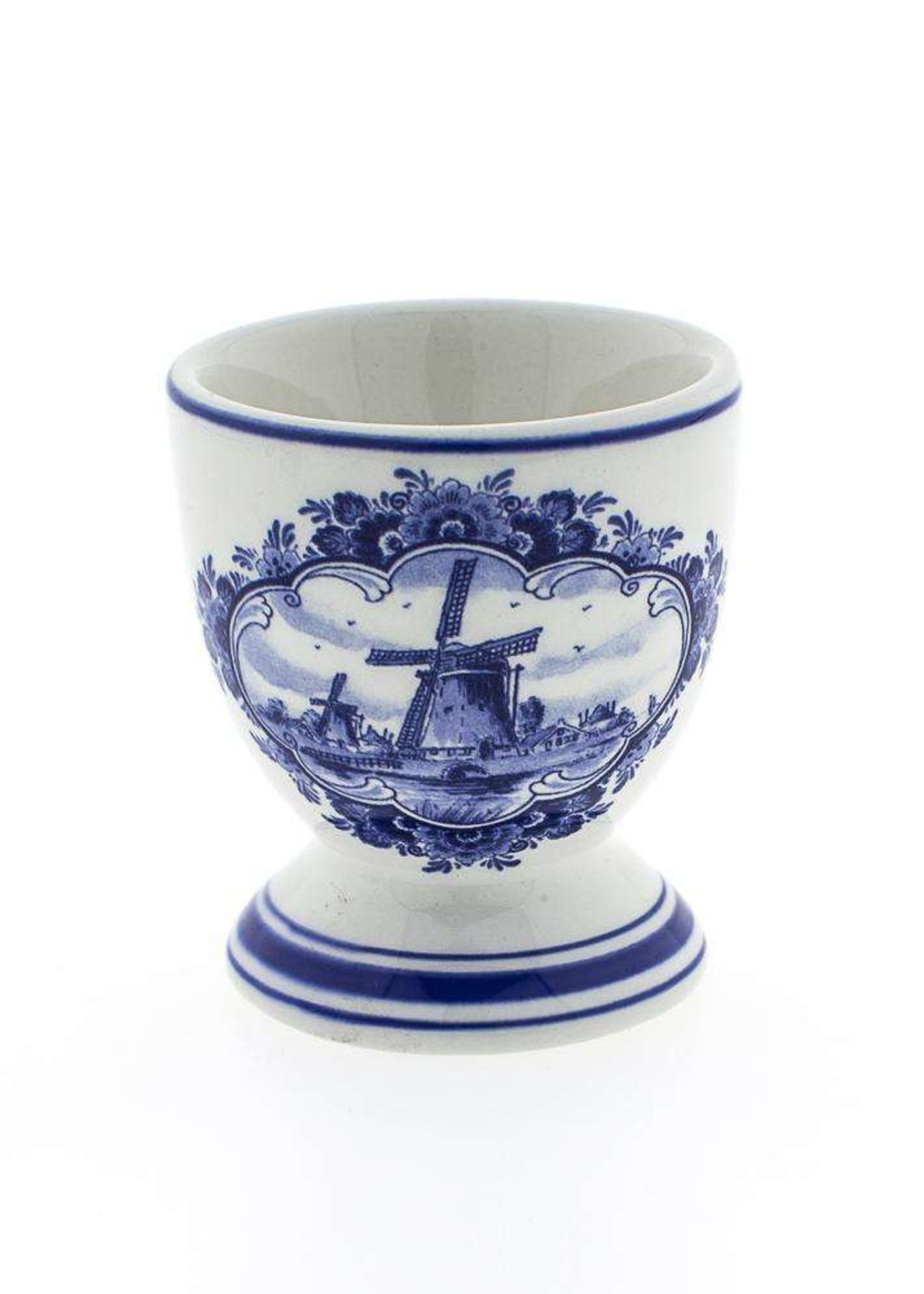 Delft Blue Egg Cup with a Windmill