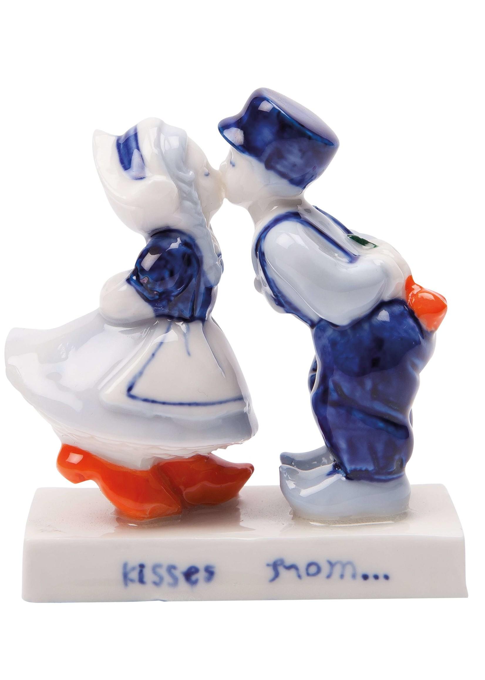 Delft Blue Kissing Couple (10 cm)