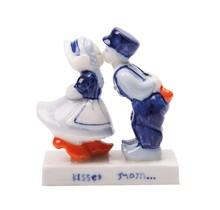 Delfts Blauw Kussend paar (10 cm)