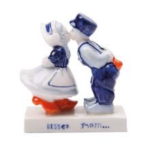 Delfts Blauw Kussend paar (13 cm)
