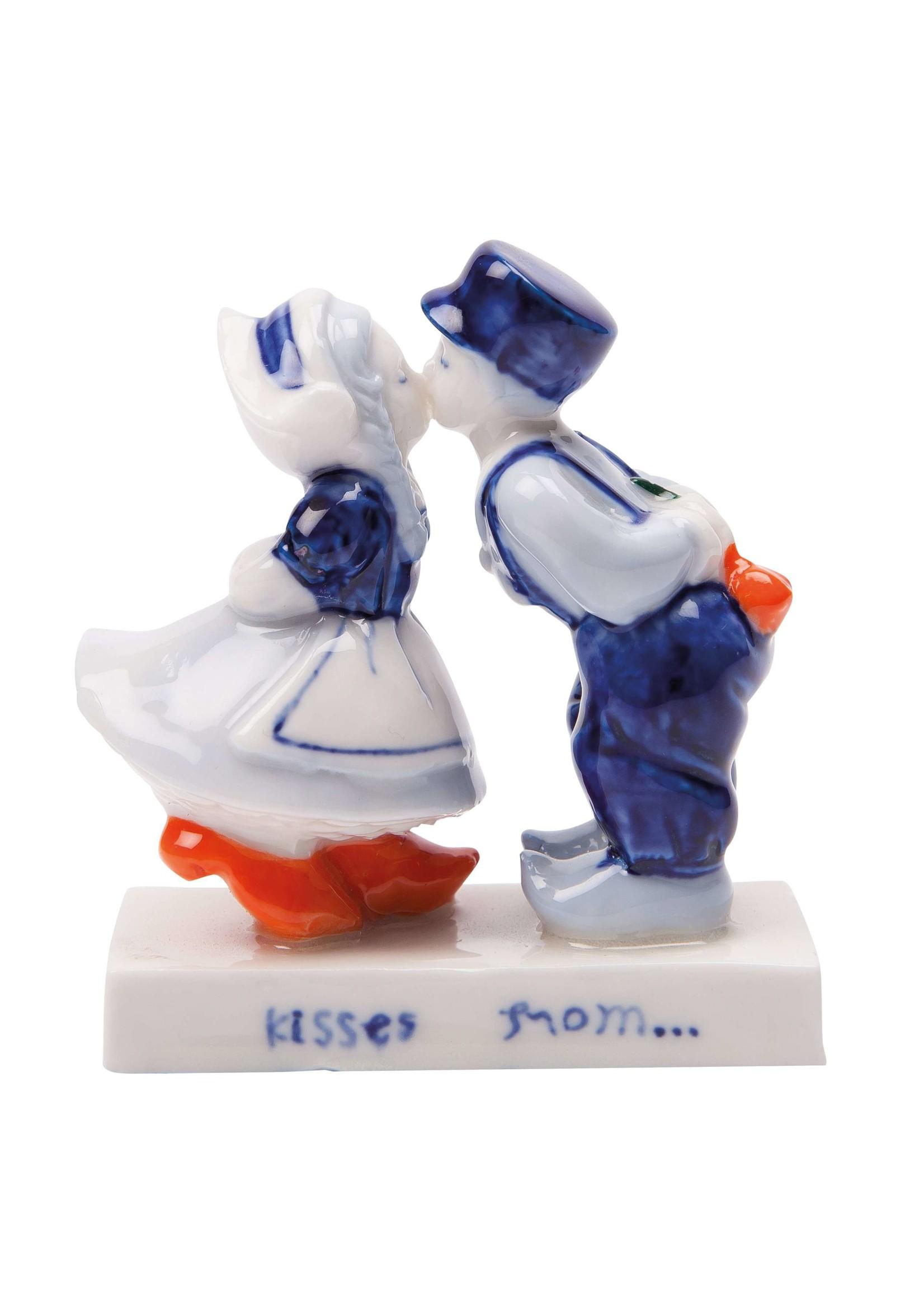 Delfts Blauw Kussend paar (5 cm)