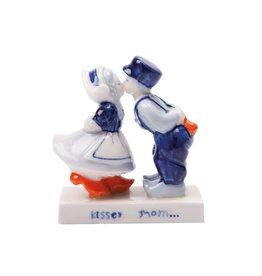 Delft Blue Kissing Couple (5 cm)
