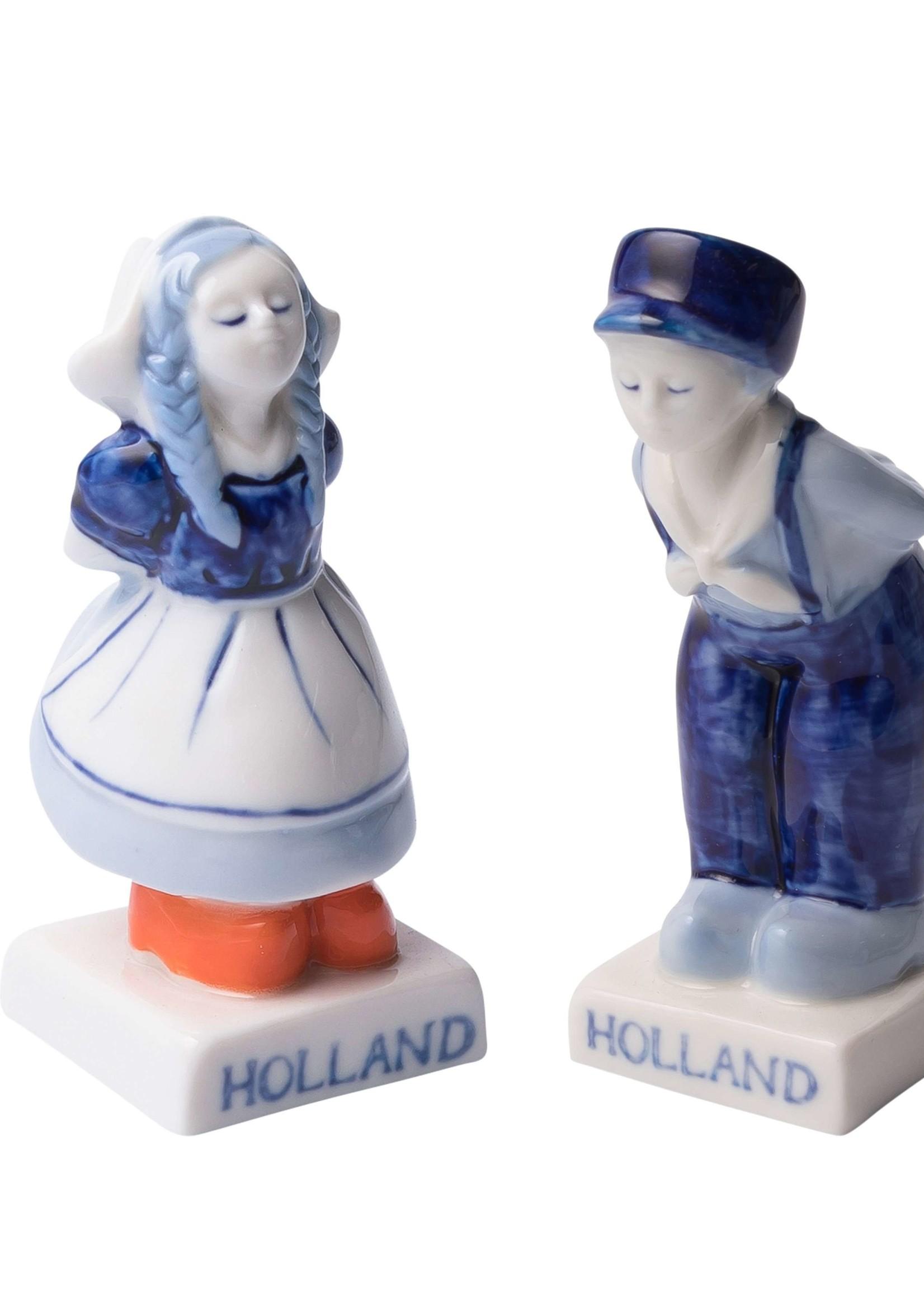 Delft Blue Kissing Couple Salt and Pepper Shaker